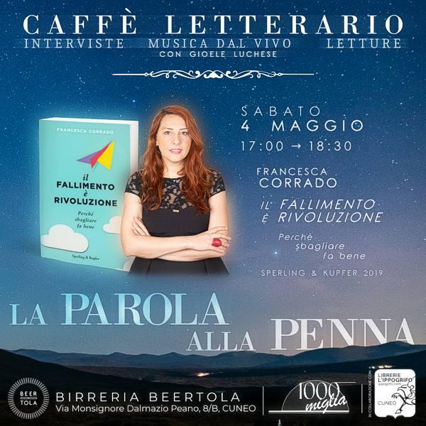 """Caffè letterario 2019 """"La parola alla penna"""": incontro con Francesca Corrado"""